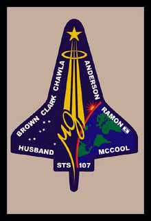 Columbia STS-107 Lost on Re-Entry 1, Feb 2003
