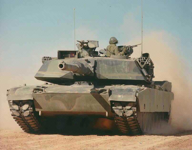 Abrams M1A1 120MM Gun Tank Coming at You From Idaho
